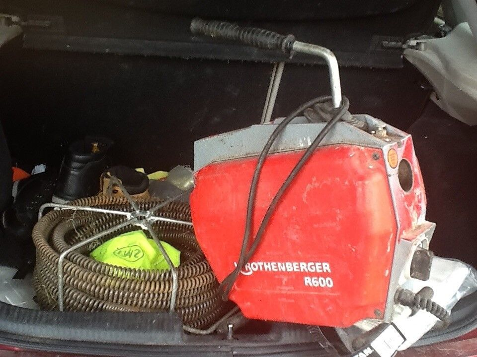 Rothenberger r600 drain machine plus 5 Spring