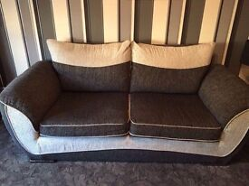 Sofa, swivel chair with footstool in excellent condition