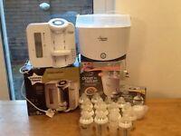 Tommee Tippee Perfect Prep Machine, Steriliser, Bottles x 15 & Dr Brown's Natural flow Bottles x 4