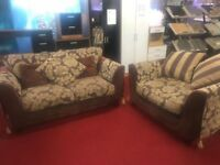 2 piece brown floral suite