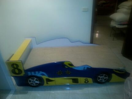 Children's Car Bed with Foam Mattress Mount Lewis Bankstown Area Preview