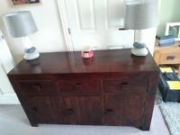 NEXT Dakota Sideboard. Oak or a hard wood. Very heavy and solid great condition