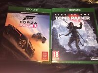 New + Sealed Forza Horizon 3 and Rise Of The Tomb Raider Xbox One