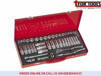 """Sealey AK692 Socket Set 45pc 3/8""""sq Drive 6pt Walldrive® Duometric®"""