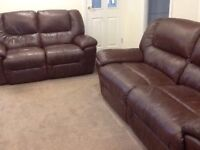 Leather Electric Reclining Sofas/Suite