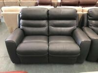 High retail charcoal colour leather suite