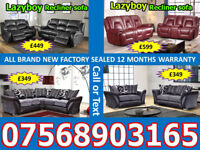 SOFA HOT OFFER BRAND NEW LEATHER RECLINER FAST DELIVERY 95