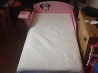Minnie Mouse toddler bed very good condition
