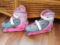 Girls Pink Roller Blades Adjustable