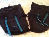 Magnum, double bike pannier carrier bags, as new