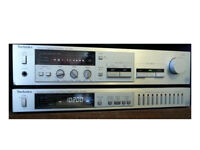 Vintage Technics amplifier and tuner