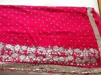 Shocking Pink Sari For Sale