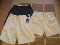 mens shorts 34inch waist , one pair new