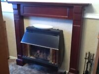 Solid Mahogony Fire Surround with free gas fire