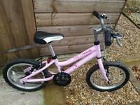 """Girls 16"""" bikes pink"""