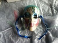 Decorative Porcelain Flower Face Mask