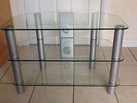 Serrano 3 tier glass TV stand