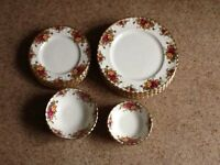 Royal Albert Old Country Roses dinner set - perfect for Christmas dinner .