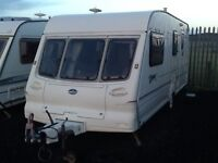 1999 Bailey pageant Champagn 4 berth end changing room with awning