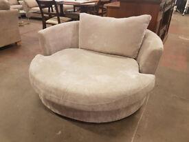 NEXT grey fabric cuddle chair