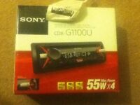 sony single din stereo boxed
