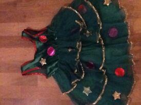 Girls Christmas Tree Dress Up age 3-4