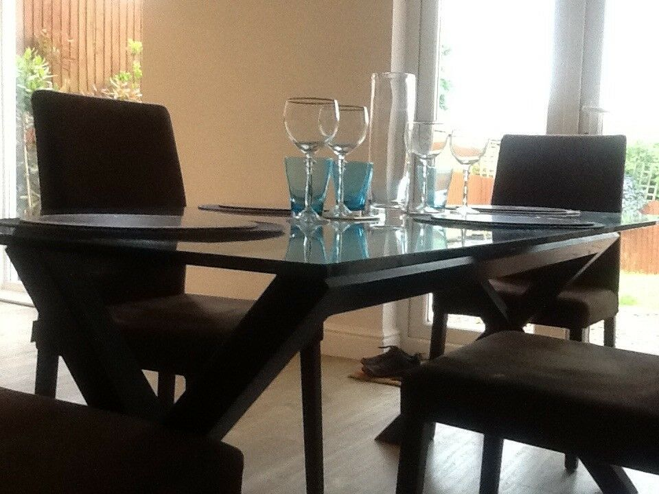 Set Of 4 Dining Room Chairs Habitat