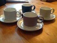 John Lewis 'Croft Collection' Espresso Cup & Saucer, Set of 4