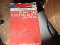 Job lot of oil filters and brake pads unknown for what cars