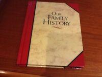 Family tree recording diary,
