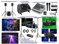 DJ equipment ideal for a mobile disco or a band, will fit easily in a pub, bar, club etc. £1400