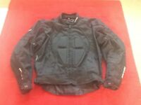 Raven fully armoured textile motorcycle jacket.