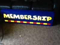 Big nice membership light £30