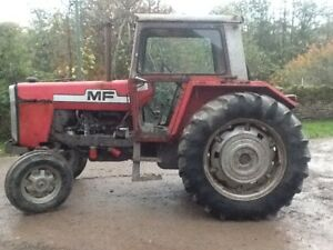 Massey Ferguson 595 2wd antique tractor, Perkins engine