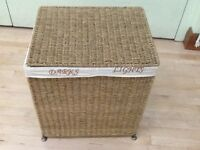 Seagrass Laundry Basket with Sorter Compartment