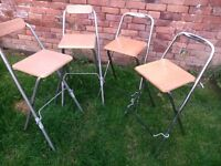 Four quality bar stools: fifty pounds for the four or fifteen pounds each