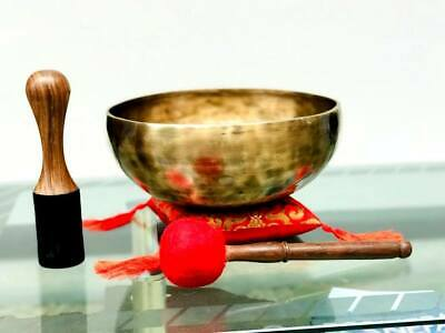 Himalayan Singing Bowl-Best Sound vibration healing therapy bowls-mallet