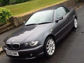 2006 BMW 320ci SE AUTO CABRIOLET CONVERTIBLE 1 OWNER SHOWROOM WITH LEATHER