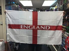 100 Large England Flag 5 Feet x 3 Feet 152cm x 90cm Brand New in Packaging