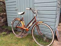 """Vintage raleigh bike """"Honey""""."""