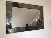 NEXT MIRROR With GLASS MOSAIC CHUNKY FRAME - COST £150 Cpl Yrs Ago. LOVELY QUALITY ITEM - TAKE £45