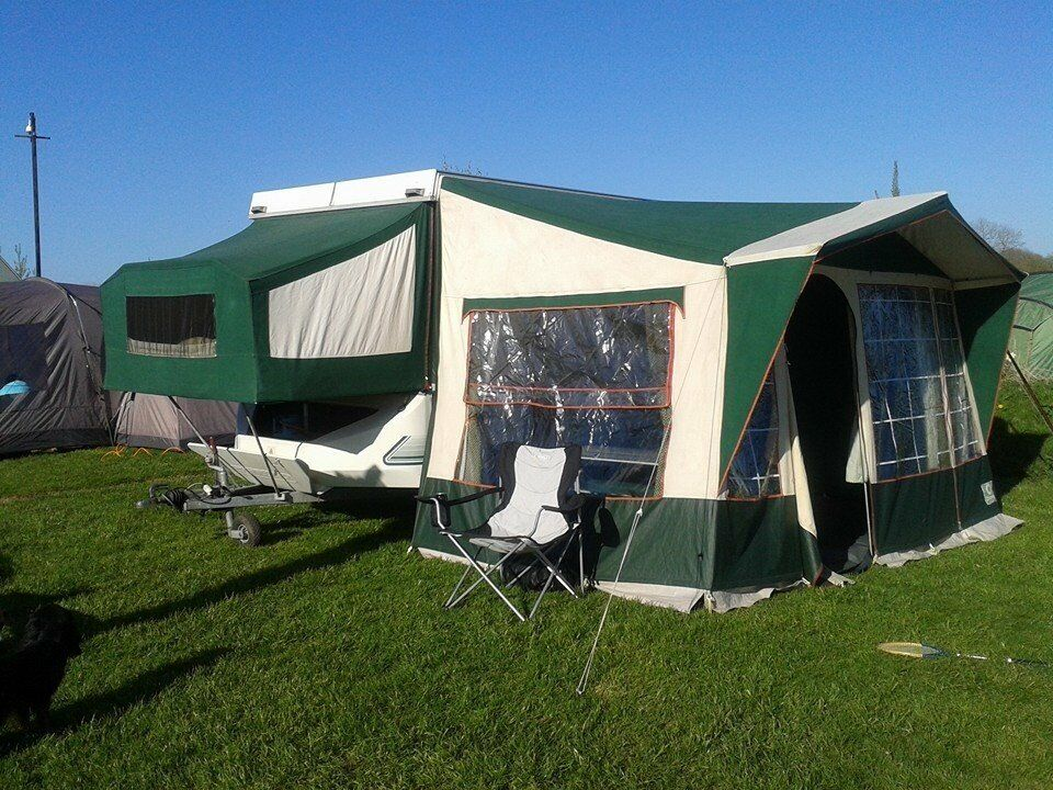 Conway cardinal clubman 6 berth hard top folding camper trailer tent