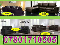 SOFA 3+2 AND RANGE CORNER LEATHER AND FABRIC BRAND NEW ALL UNDER £250 23