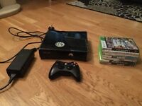 XBOX 360 SLIM WITH 7 GAMES