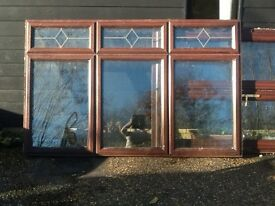 Large brown upvc window 2.4m x 1.3m