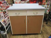 Vintage retro 1960s kichen stand alone formica topped unit,.