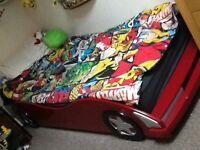Childrens wooden car bed