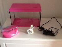 Childs pink aquarium 13l