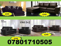 SOFA BRAND NEW SOFA RANGE CORNER AND 3+2 LEATHER AND FABRIC ALL UNDER £250 4498