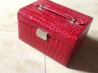 Red vanity box , ideal for travelling, very compact